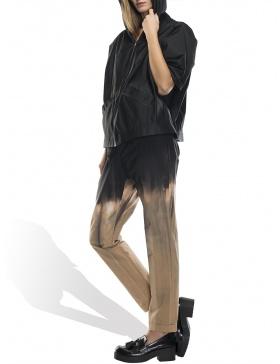 Jacheta neagra cu gluga