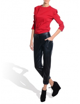 Pantaloni lungi piele ecologica
