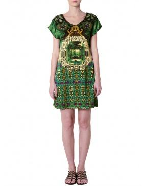 Rochie verde mini