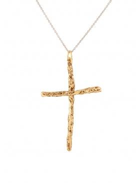 Pandantiv Karma Cross Gold/Silver