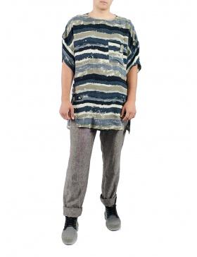 Tricou din vascoza cu imprimeu pictural