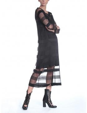 Rochie din tull plisat