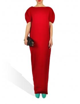 Rochie Princely lunga in culoarea rosie