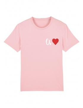 Tricou O. inima - scris alb