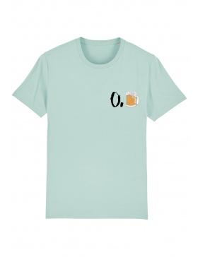 Tricou O. bere - scris negru