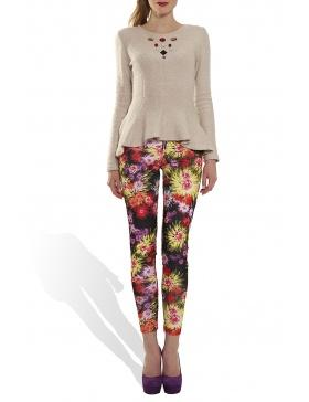 Pantaloni cu imprimeu floral
