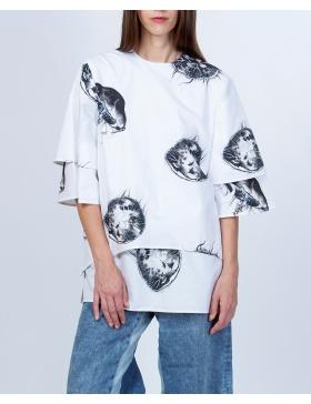 Bluza din poplin de bumbac