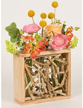 Suport pentru flori cu crengute si 3 eprubete