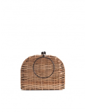 Espresso Wicker Bag Short