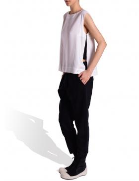Pantaloni material mixt