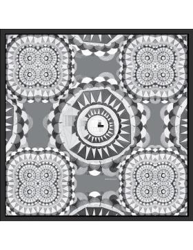 Esarfa alb/negru Circular Wishes
