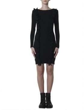 Rochie tricotata cu spatele gol