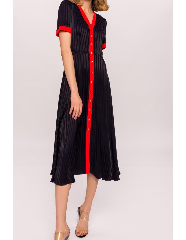 Rochie din vascoza cu nasturi aurii | Nissa