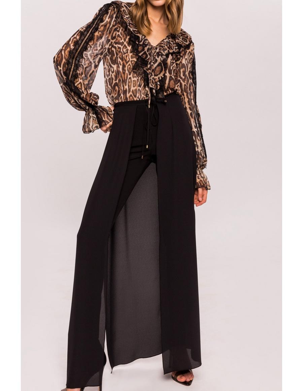 Pantaloni cu trena din voal | Nissa