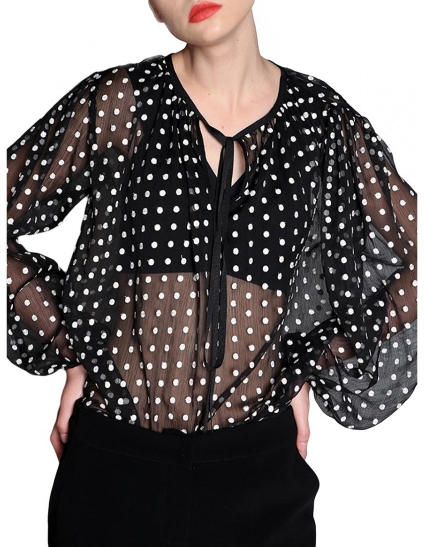 Bluza cu buline brodate | Silvia Serban