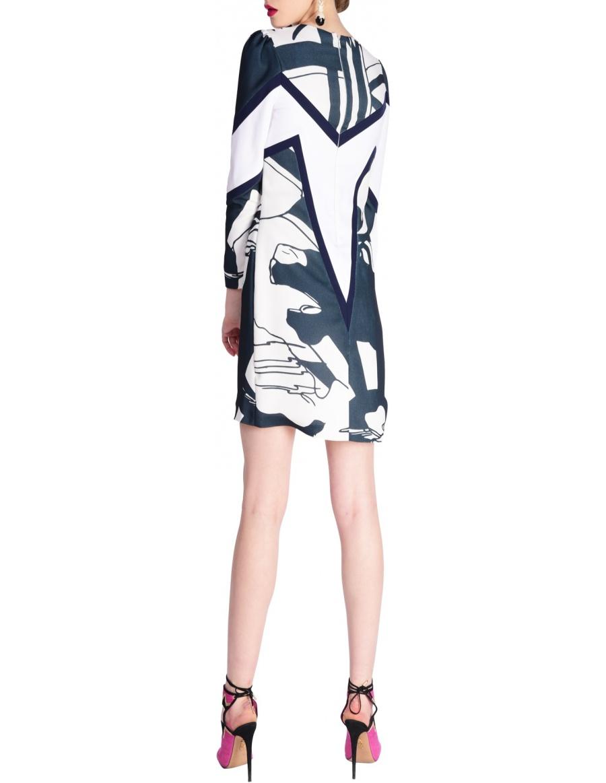 Corina Vladescu Kaia bw dress