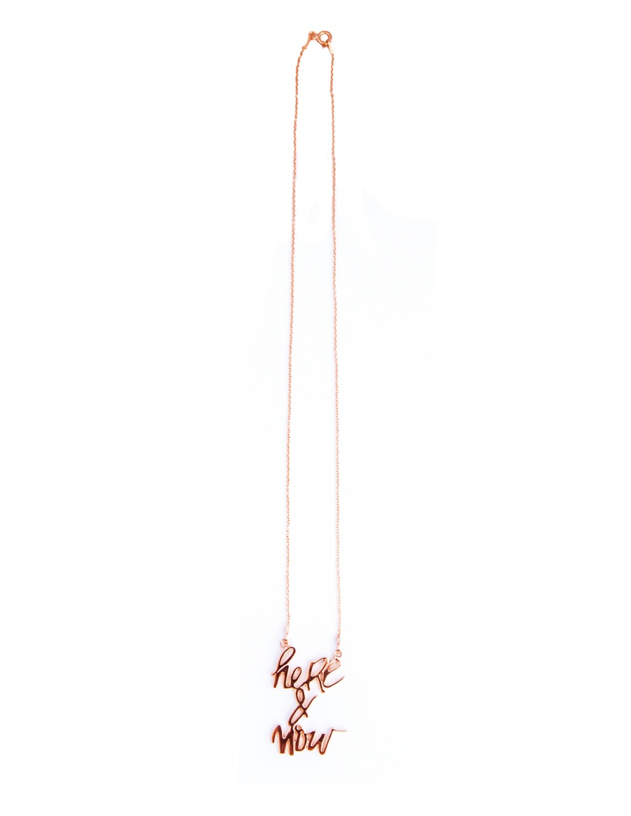 Skin Deep Here&Now rose gold plated necklace