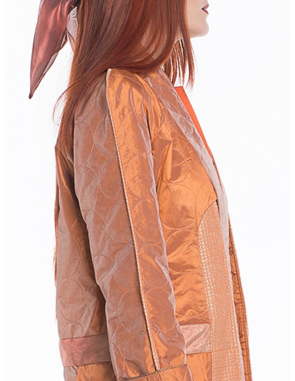 Jachetă oranj cu pliuri | Sandra Chira