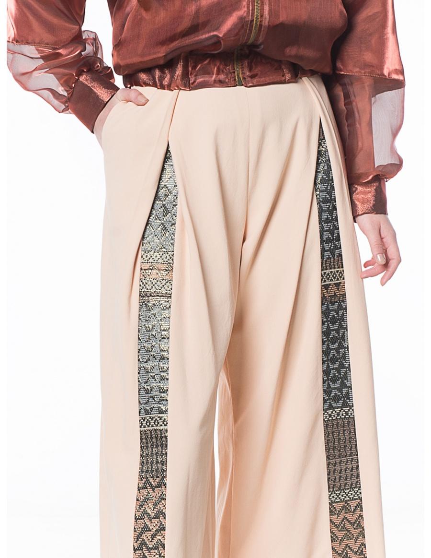 Pantaloni cullote corai pastel  | Sandra Chira