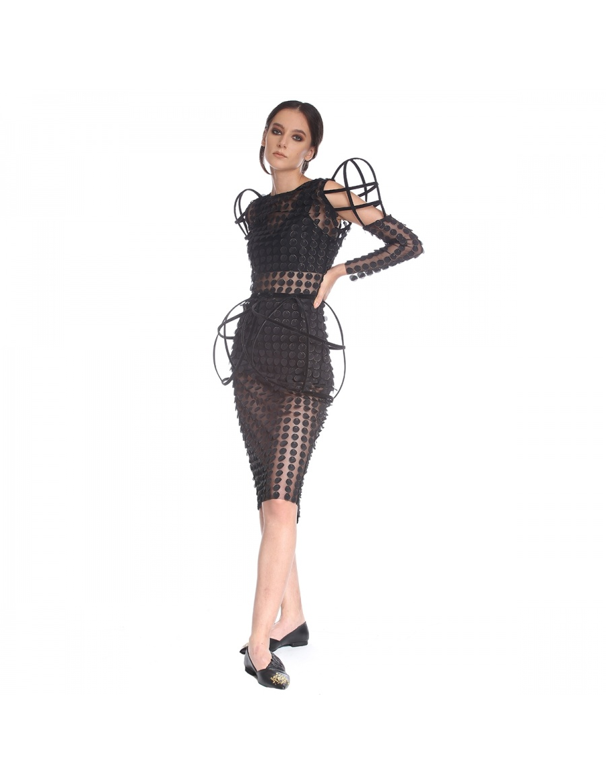 Rochie maneci structurate | Silvia Serban | Molecule F